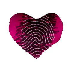 Above & Beyond Sticky Fingers Standard 16  Premium Flano Heart Shape Cushions