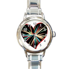 Above & Beyond Round Italian Charm Watch