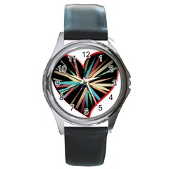 Above & Beyond Round Metal Watch