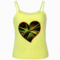 Above & Beyond Yellow Spaghetti Tank