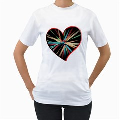 Above & Beyond Women s T-Shirt (White) (Two Sided)