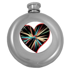 Above & Beyond Round Hip Flask (5 oz)