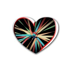 Above & Beyond Rubber Coaster (Heart)