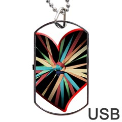 Above & Beyond Dog Tag USB Flash (Two Sides)