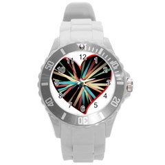 Above & Beyond Round Plastic Sport Watch (L)
