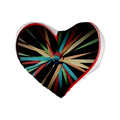 Above & Beyond Standard 16  Premium Flano Heart Shape Cushions
