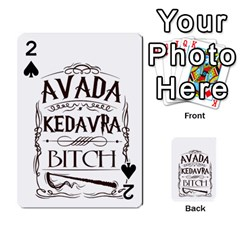 Avada Kedavra Bitch Playing Cards 54 Designs