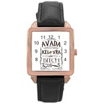 Avada Kedavra Bitch Rose Gold Leather Watch  Front