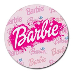 Barbie Pattern Round Mousepads