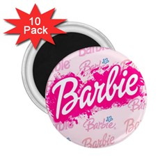 Barbie Pattern 2 25  Magnets (10 Pack)