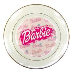Barbie Pattern Porcelain Plates