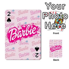 Barbie Pattern Playing Cards 54 Designs