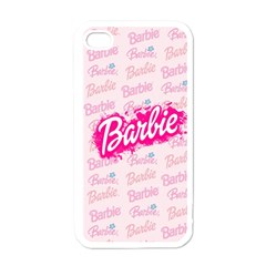 Barbie Pattern Apple Iphone 4 Case (white)