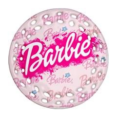 Barbie Pattern Round Filigree Ornament (2side)