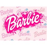 Barbie Pattern LOVE Bottom 3D Greeting Card (7x5) Back