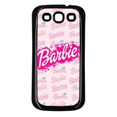 Barbie Pattern Samsung Galaxy S3 Back Case (black)