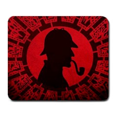 Book Cover For Sherlock Holmes And The Servants Of Hell Large Mousepads