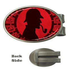 Book Cover For Sherlock Holmes And The Servants Of Hell Money Clips (oval)