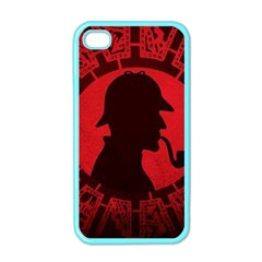 Book Cover For Sherlock Holmes And The Servants Of Hell Apple Iphone 4 Case (color)