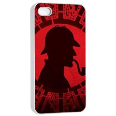 Book Cover For Sherlock Holmes And The Servants Of Hell Apple Iphone 4/4s Seamless Case (white)