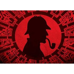 Book Cover For Sherlock Holmes And The Servants Of Hell Birthday Cake 3d Greeting Card (7x5)