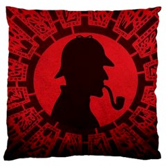 Book Cover For Sherlock Holmes And The Servants Of Hell Large Cushion Case (one Side)