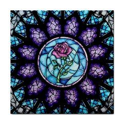 Cathedral Rosette Stained Glass Beauty And The Beast Tile Coasters