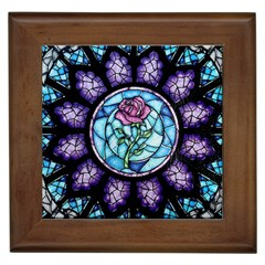 Cathedral Rosette Stained Glass Beauty And The Beast Framed Tiles