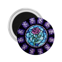 Cathedral Rosette Stained Glass Beauty And The Beast 2.25  Magnets