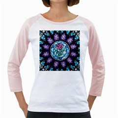 Cathedral Rosette Stained Glass Beauty And The Beast Girly Raglans