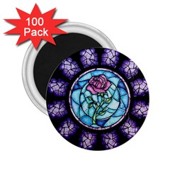 Cathedral Rosette Stained Glass Beauty And The Beast 2.25  Magnets (100 pack)