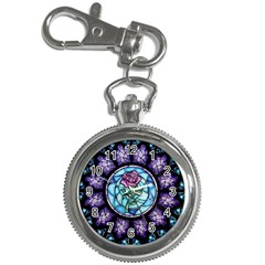 Cathedral Rosette Stained Glass Beauty And The Beast Key Chain Watches