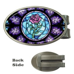 Cathedral Rosette Stained Glass Beauty And The Beast Money Clips (Oval)