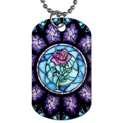 Cathedral Rosette Stained Glass Beauty And The Beast Dog Tag (Two Sides)