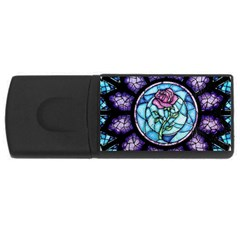 Cathedral Rosette Stained Glass Beauty And The Beast USB Flash Drive Rectangular (2 GB)