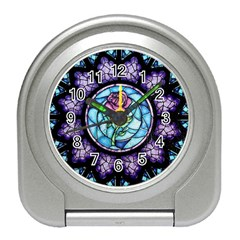 Cathedral Rosette Stained Glass Beauty And The Beast Travel Alarm Clocks