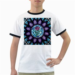 Cathedral Rosette Stained Glass Beauty And The Beast Ringer T-Shirts