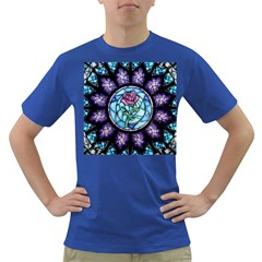 Cathedral Rosette Stained Glass Beauty And The Beast Dark T-Shirt