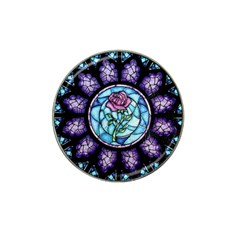 Cathedral Rosette Stained Glass Beauty And The Beast Hat Clip Ball Marker (4 pack)