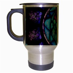 Cathedral Rosette Stained Glass Beauty And The Beast Travel Mug (Silver Gray)