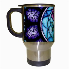 Cathedral Rosette Stained Glass Beauty And The Beast Travel Mugs (White)