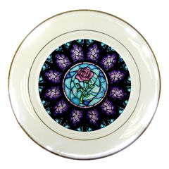 Cathedral Rosette Stained Glass Beauty And The Beast Porcelain Plates