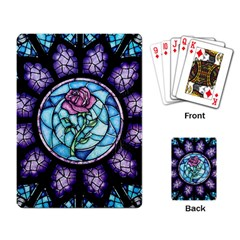 Cathedral Rosette Stained Glass Beauty And The Beast Playing Card