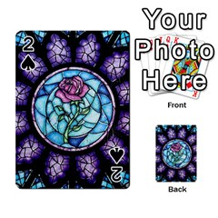 Cathedral Rosette Stained Glass Beauty And The Beast Playing Cards 54 Designs