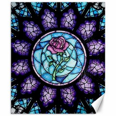 Cathedral Rosette Stained Glass Beauty And The Beast Canvas 8  x 10