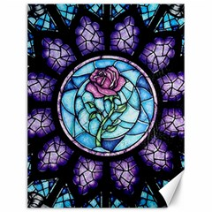 Cathedral Rosette Stained Glass Beauty And The Beast Canvas 12  x 16