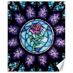 Cathedral Rosette Stained Glass Beauty And The Beast Canvas 16  x 20