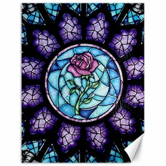 Cathedral Rosette Stained Glass Beauty And The Beast Canvas 18  x 24