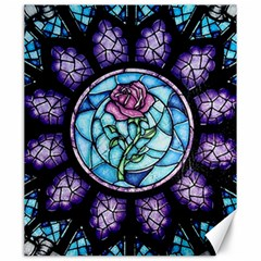 Cathedral Rosette Stained Glass Beauty And The Beast Canvas 20  x 24
