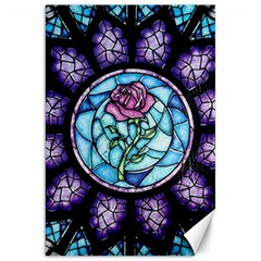 Cathedral Rosette Stained Glass Beauty And The Beast Canvas 20  x 30